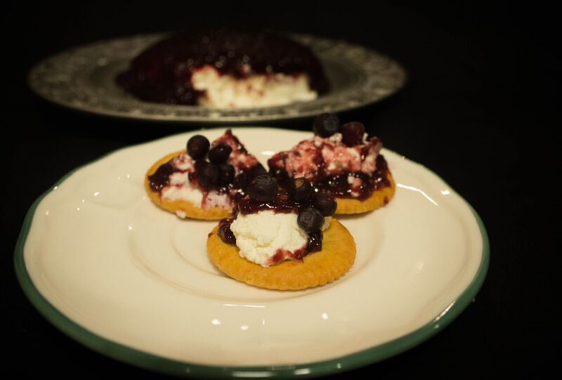Chèvre Cheese With Rascleberry Appetizer